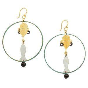NWOT Anthropologie Sibilia Genie Hoop Earrings